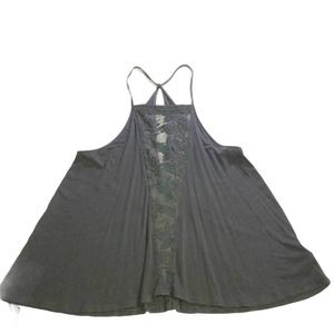 AE Babydoll Tank Top  Soft & Sexy Lace Racerback Charcoal Size XS